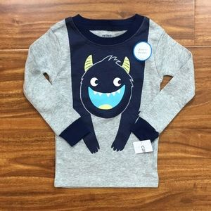 NWT Carter's Baby Boy Monster Long Sleeve Top 18M